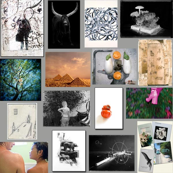graphic featuring images from all 2010 exhibitors at Davis Orton Gallery