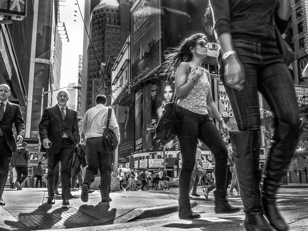 New York Walking #13380 by Susan Bowen