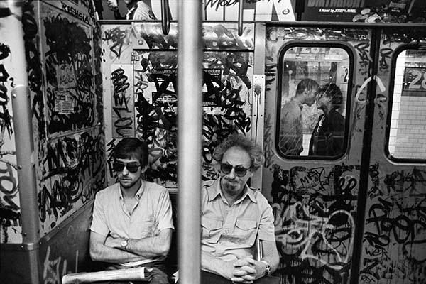 Subway Kiss NYC, 1987, Silver Gelatin Print by Richard Sandler