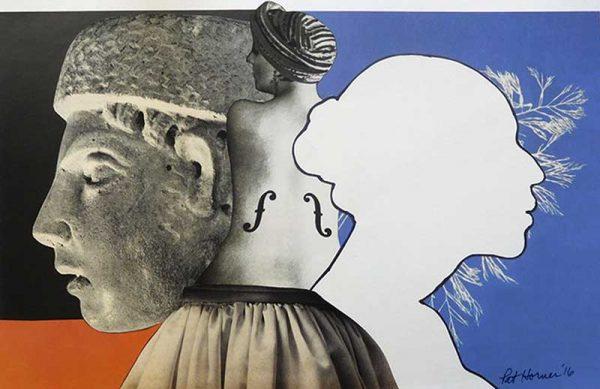 Davis Orton Gallery - Kiki by Pat Horner, photo based collage