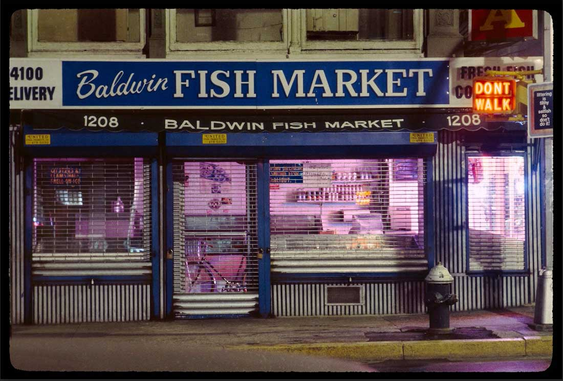 Baldwin Fish Market, pigment print by William Hellermann