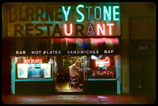 Blarney Stone, 8th Ave, 1980s, pigment print by William Hellerman