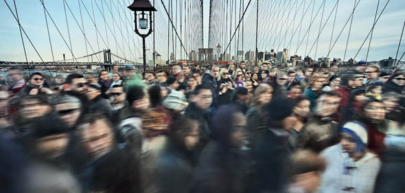 Brooklyn Bridge from Neurosis Series by Photographer Bojune Kwon at Davis Orton Gallery
