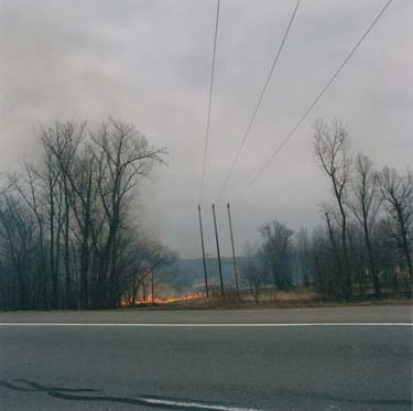 Brush Fire from the Commute by Mark Haven
