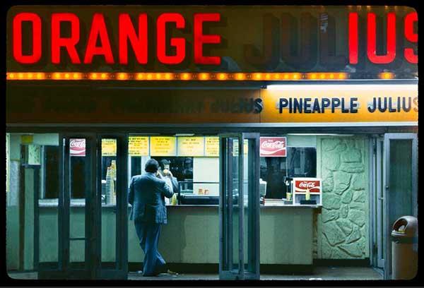 Orange Julius, 1980s, pigment print by William Hellerman