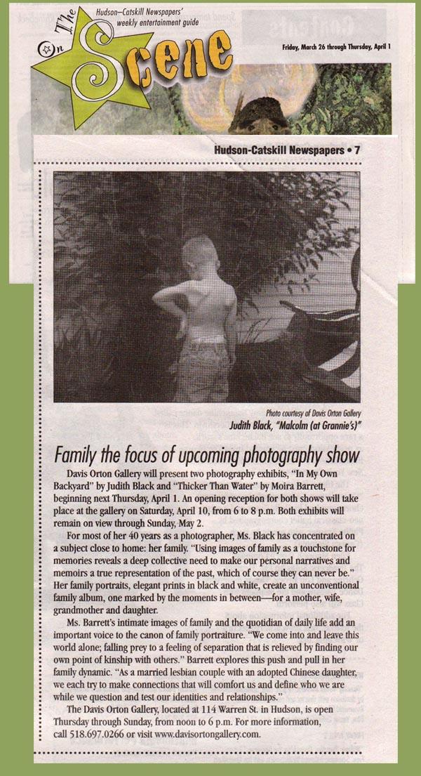 Register Star's On the Scene features Judith Black, Moira Barrett exhibit