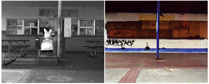 diptych from series back and forth by ernie button