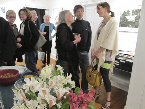 "Sylvia Plachy at reception for her series, ""Apparitions"" at Davis Orton Gallery"