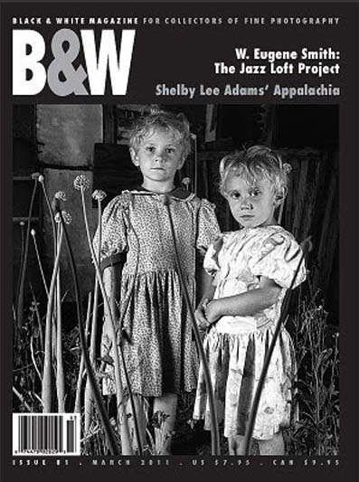 cover black and white magazine with photo by shelby lee adams