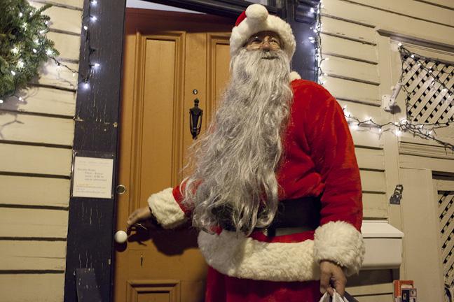Santa Returns to the Davis Orton Gallery