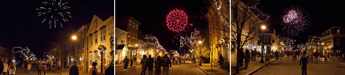 Fireworks on Warren Street, Hudson