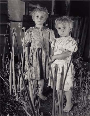 Shelby Lee Adams, Girls in Onion Patch, Silver Gelatin Print, 2004