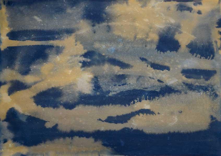 DavisOrtonGallery - Dana Matthews -turbulantsea cyanotype