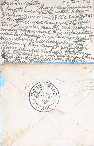 Fern T. Apfel, Envelope #1: Dear Daughter