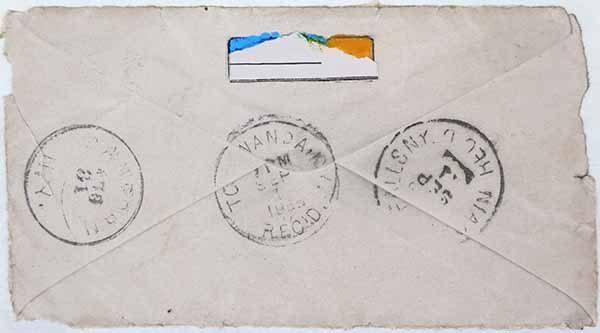 Fern T. Apfel, Envelope # 3: Postmarked