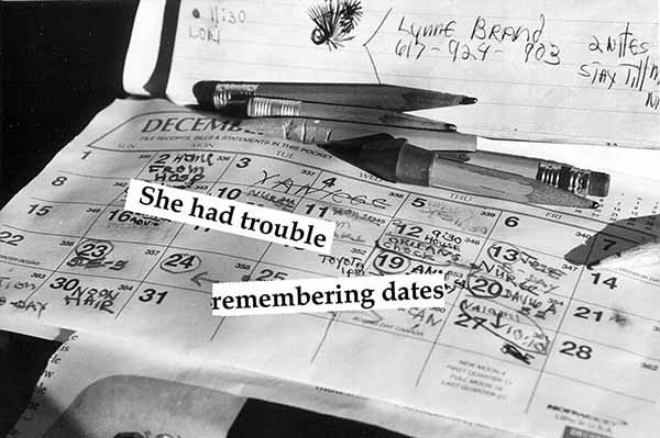 Miriam Goodman, She had trouble remembering dates,