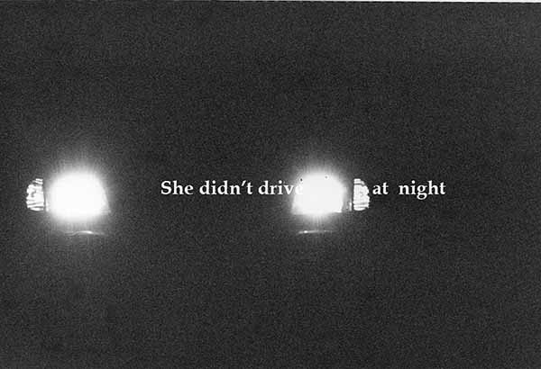 Miriam Goodman, She didn't drive at night