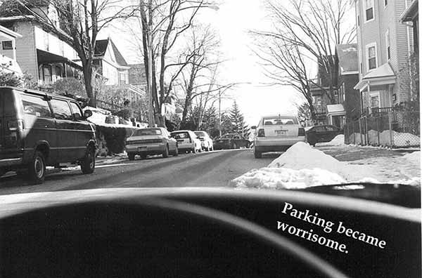 Miriam Goodman, Parking became worrisome