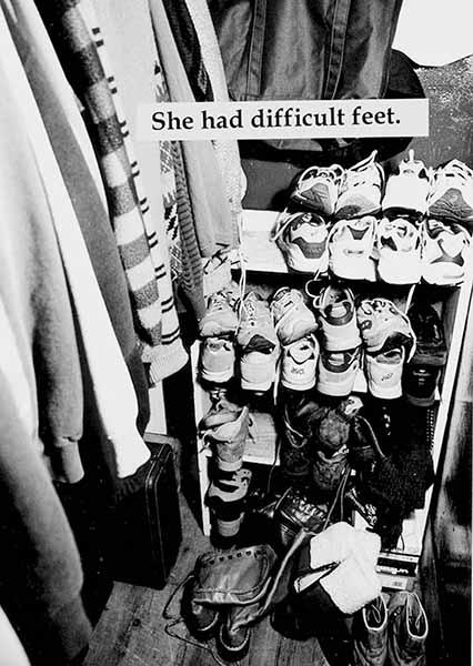 Miriam Goodman, She had difficult feet,