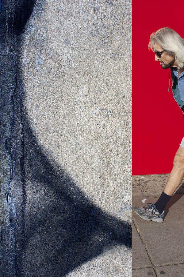 Ellen Feldman, Man Walking into Curve