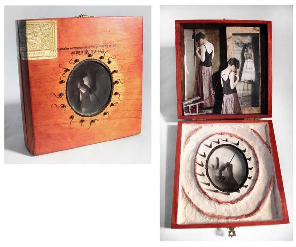 16 Barbs to the Back, Little Box, Assemblage, mixed media by Smith Eliot