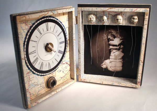 Dream Whisperers Inside, Little Box, Assemblage, mixed media by Smith Eliot