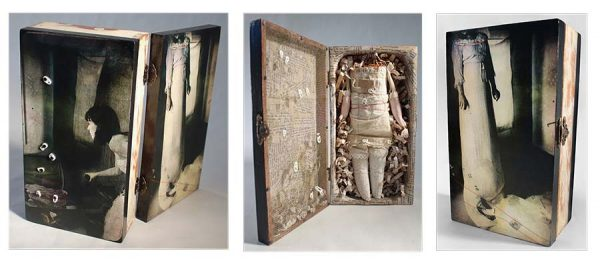 Untethered Pearls, Little Box, Assemblage, mixed media by Smith Eliot