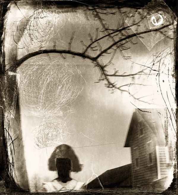 Erasing Ellen, pigment print from negative collage by Smith Eliot
