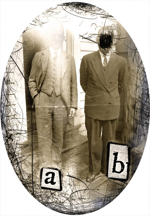 Specimens, pigment print from negative collage by Smith Eliot