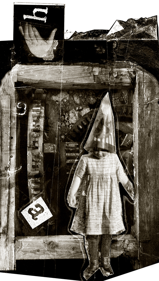 Ha, Ha, pigment print from negative collage by Smith Eliot