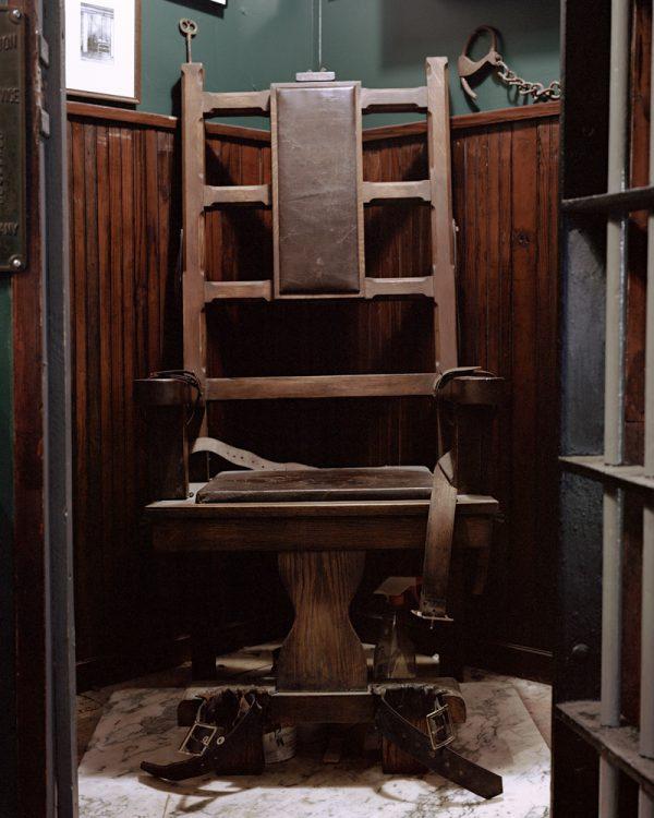 """Mock Electric Chair by Joe Librandi-Cowan, pigment print, 16""""x20"""",open edition, $400"""