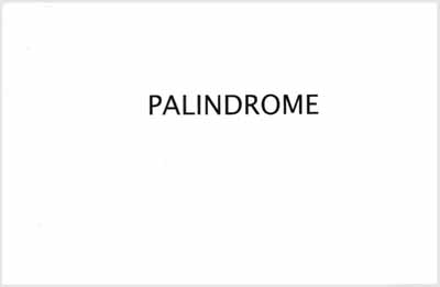 Palindrome by Jeff Evans