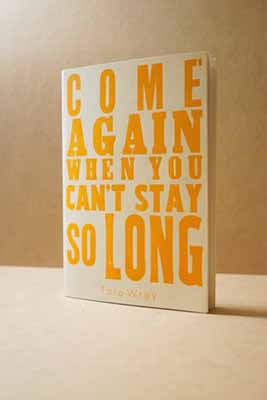 Come Again When You Can't Stay So Long by Tara Wray