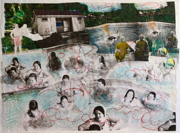 Gallagher Family Swim 2013, 1 of a kind 22x32 $1800 available 13x19 inkjet print on archival Hahnemuhle Photo Rag, limited edition of 10