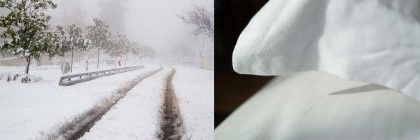 Jerusalem Snow - Pillow by Michal Greenboim