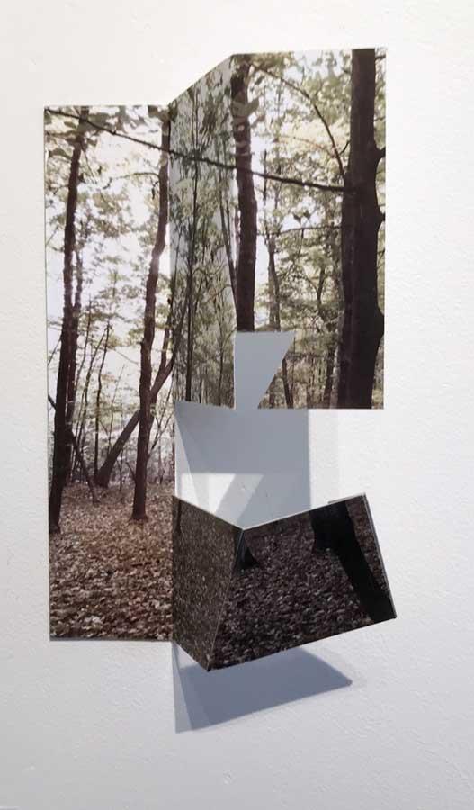 """Chop 1 by Margaret Saliske, 2016 10""""W X 4""""D X 12""""H Inkjet, aluminum , $2200"""
