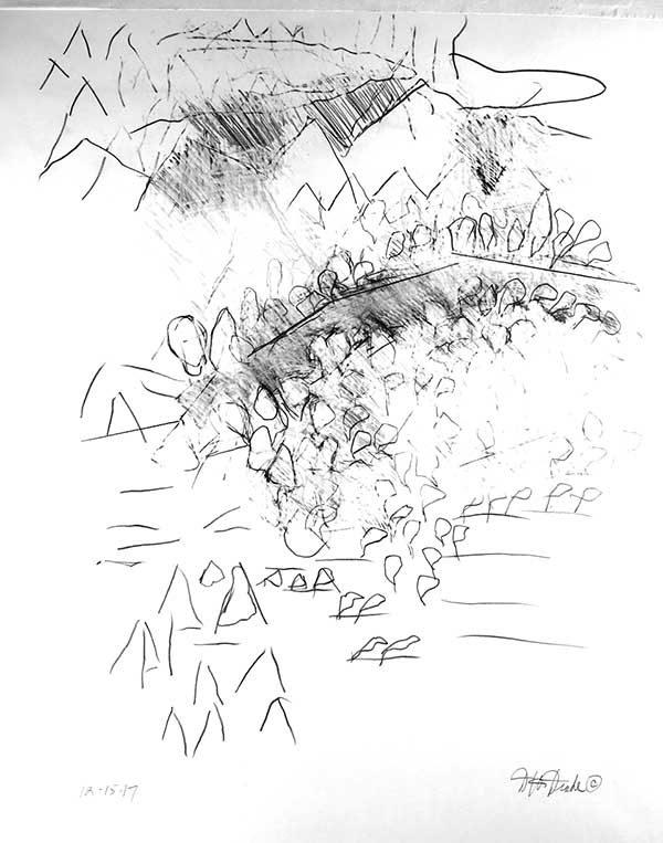 Sluggish by David Drake--19x24 .....Graphite on Bristol...$1800