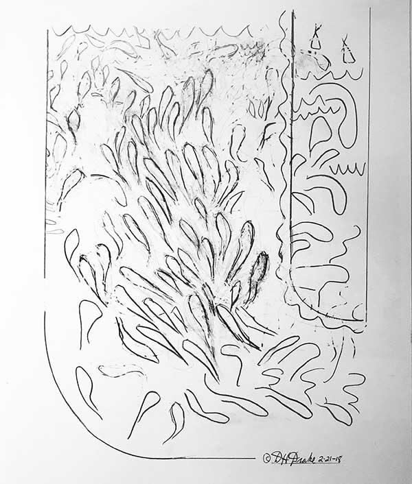 Cumulative Ocean by David Drake--19x24 .....Graphite on Bristol...$1800