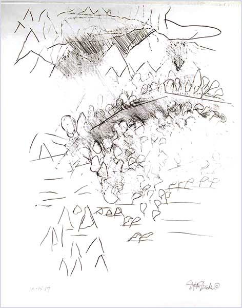 Sluggish, 19″ x 24″, graphite pencil on bristol by David Drake