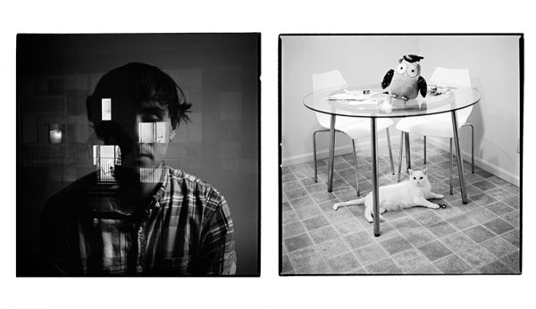 Kevin, diptych prints and audio by Kholood Eid