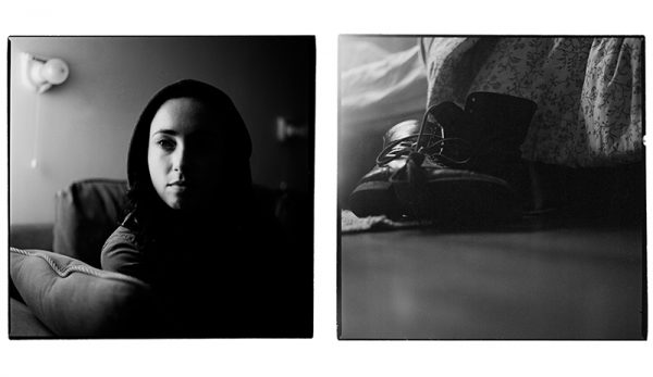 Katie, diptych prints and audio by Kholood Eid