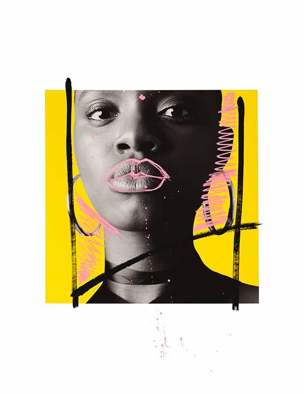 For My Girls 5, mixed media by Nichole Washington
