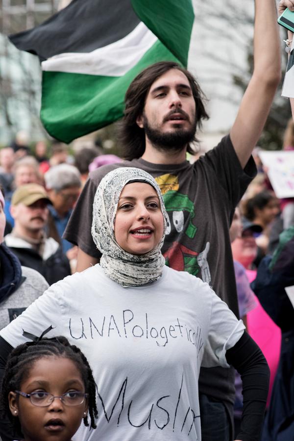 Unapologetically Muslim by Nicole Buchanan, 2017 Women's March, Atlanta GA