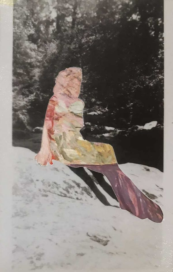 """Untitled 4 by Gail Peachin, 5.5x3.5"""", mixed media collage, $150"""