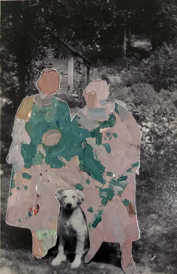 """Untitled 11 by Gail Peachin, 5.5x3.5"""", mixed media collage, $150"""