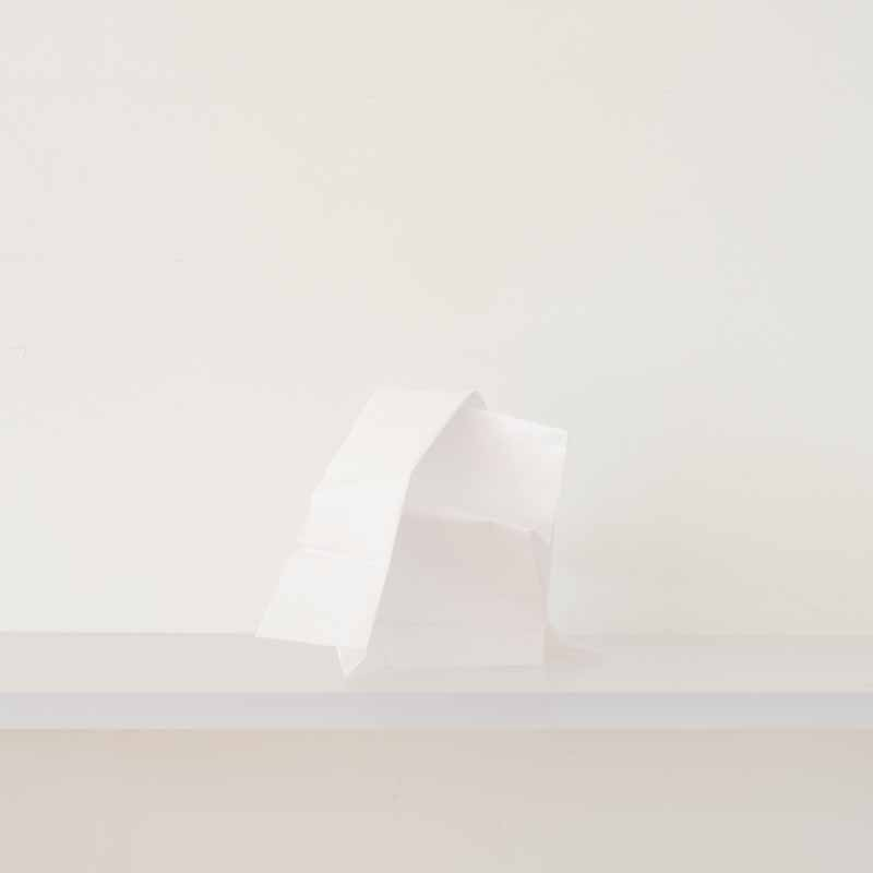"Debra Bilow, Paper Study, Untitled No. 5, 2016, 6x6"" edition of 8"