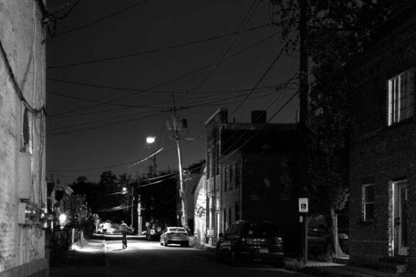 Streetlights on Jane Street, Saugerties NY, 2018